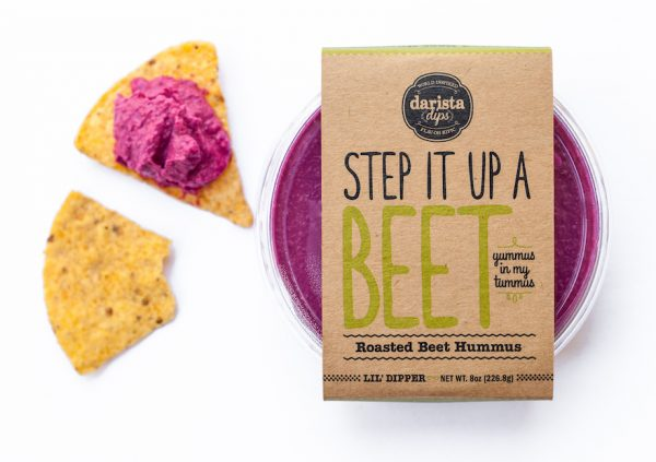Darista Dips Roasted Beet Hummus Product